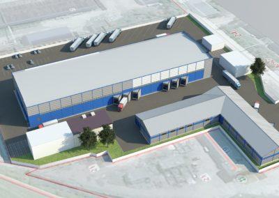 Здание склада площадью 4161 кв.м.